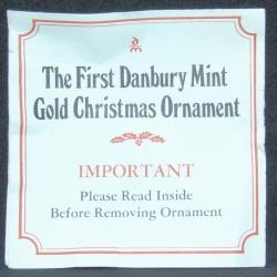 1976 - First Ornament Certificate