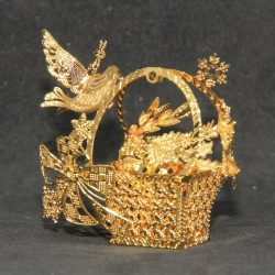 Bird with Gift Basket